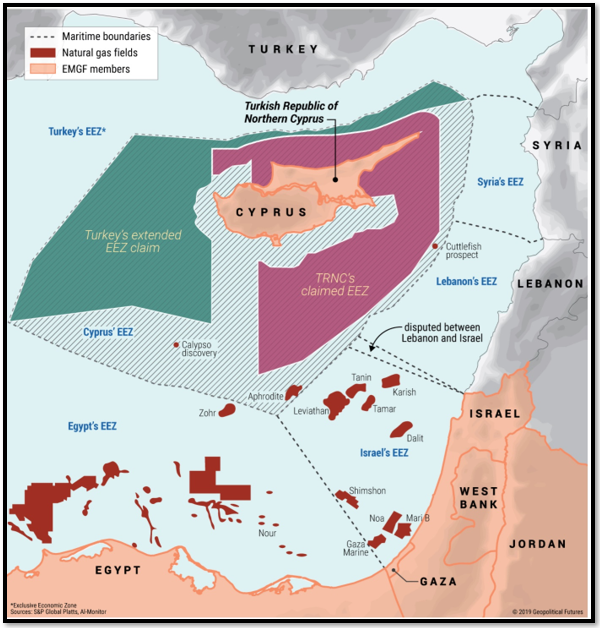 "Natural Gas Cooperation in the Eastern Mediterranean [Source: ""Natural Gas Cooperation in the Eastern Med"", Geopolitical Futures, 22 November 2019]"