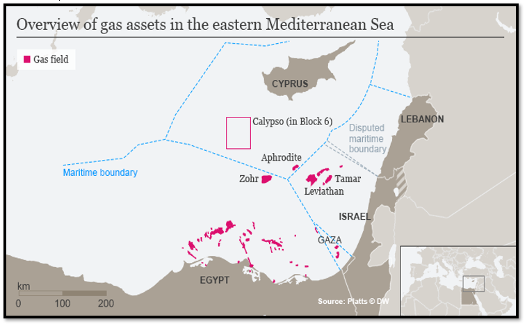 Overview of Gas Assets in the Eastern Mediterranean Sea [Source: Sergio Matalucci]