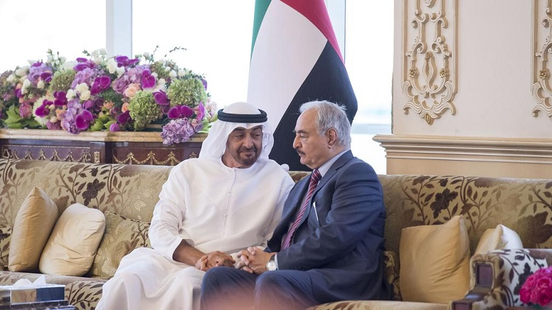Mohammed bin Zayed Al Nahyan Crown Prince of Abu Dhabi Mohamed bin Zayed met with Field Marshal Khalifa Haftar in Abu Dhabi on April 10, 2017 (Getty)