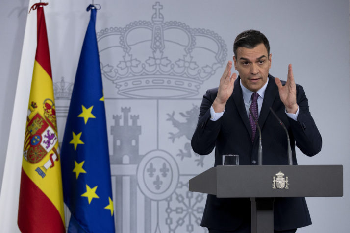 Spanish PM Sanchez addressing his nation [Getty]