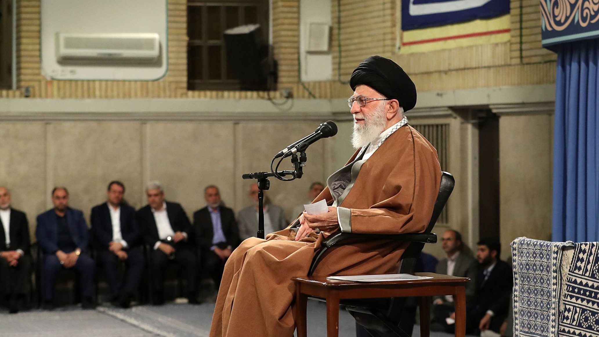 Iranian Supreme Leader Ayatollah Ali Khamenei speaks in Tehran in April 2019 (Getty)