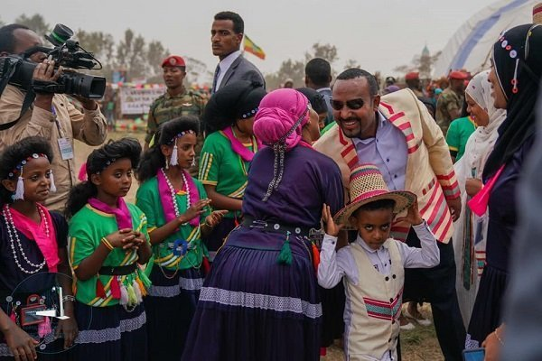 PM Abiy Ahmed visits Halaba stadium Feb. 26. 2020 (Office of the Prime Minister)