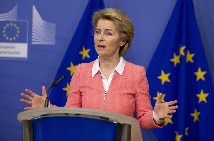 Ursula von der Leyen, the European Commission president, initially appeared dismissive of the proposed Coronabonds [AP]