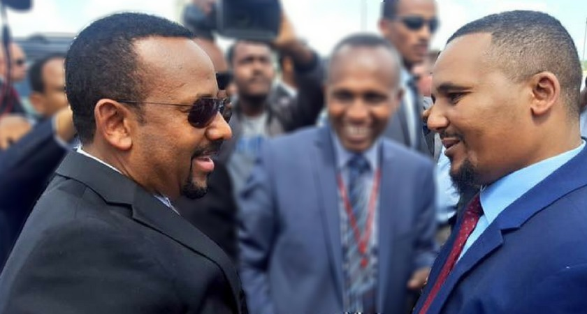 Prime Minister Abiy Ahmed and Jawar Mohammed [Getty]